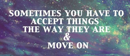 To Let Go = To MoveOn